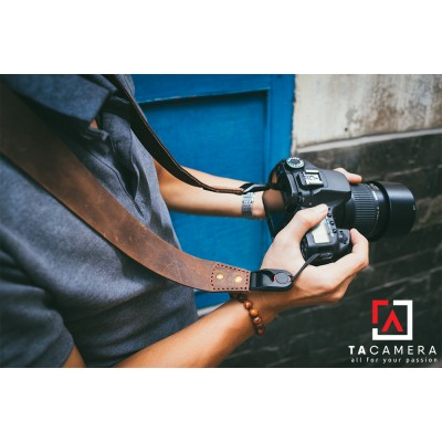 Dây đeo Máy Ảnh Da Bò Handmade TA-1219
