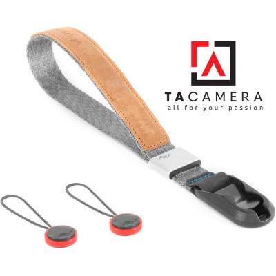 Dây Đeo Máy Ảnh Peak Design Cuff 2.0 - Wrist Strap - màu Ash - Chính Hãng
