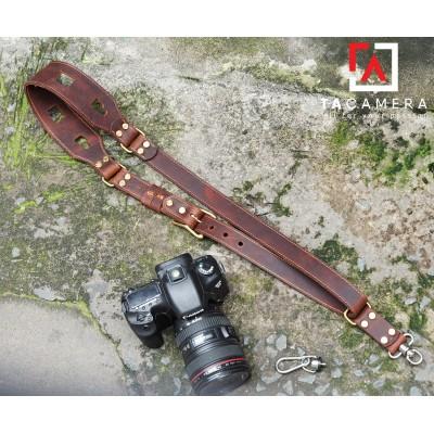 Dây đeo Máy Ảnh Thao Tác Nhanh Da Bò Handmade TA-1235