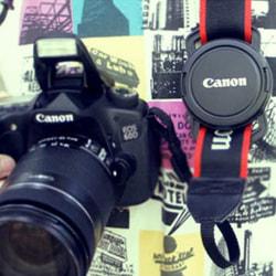 Đế kẹp giữ nắp ống kính máy ảnh