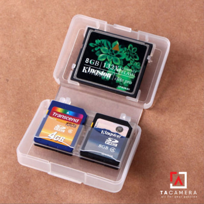 Hộp nhựa đựng thẻ nhớ 1CF + 4SD