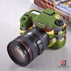 Vỏ cao su - Cover máy ảnh Canon 6 - màu Camo
