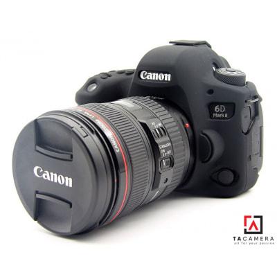Vỏ cao su - Cover máy ảnh Canon 6Dii - 6D2 - Màu Đen