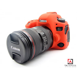 Vỏ cao su - Cover máy ảnh Canon 6Dii - 6D2 - Màu ĐỎ
