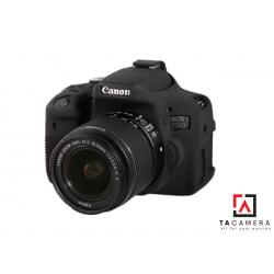 Vỏ cao su - Cover máy ảnh Canon 750D - Màu Đen
