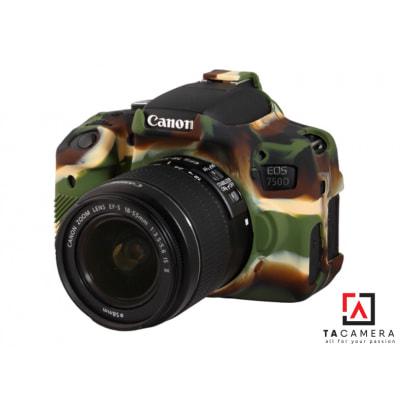 Vỏ cao su - Cover máy ảnh Canon 750D - Màu Camo
