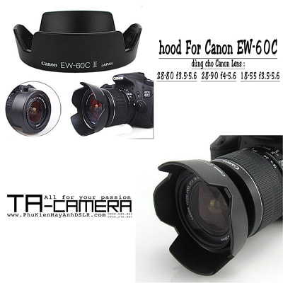 Lens hood for Canon EW-60C II