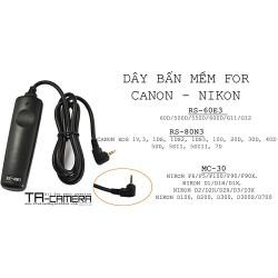 Dây bấm mềm máy ảnh for Nikon