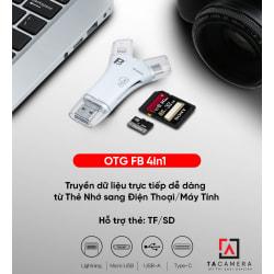 Đầu đọc thẻ nhớ - OTG FB 4in1 Điện Thoại IOS – Android – PC - Macbook (BH 3T)