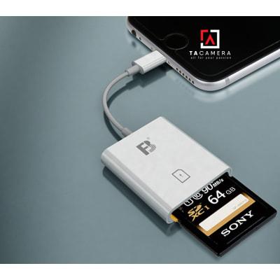 Đầu đọc thẻ nhớ - OTG FB11 Cổng Lightning Cho Điện ThoạI - Ipad IOS - Hỗ Trợ thẻ SD (BH 3T)