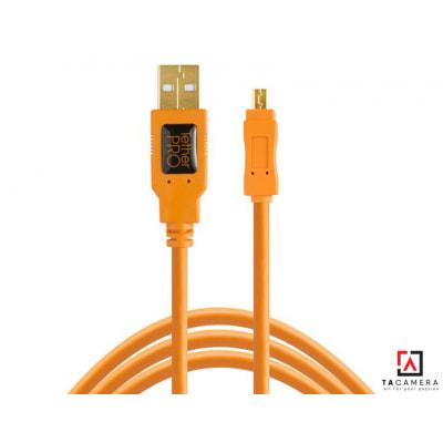 Dây TetherPro USB 2.0 To Mini-B 8-Pin - Kết Nối Máy Ảnh Và Máy Tính - Laptop - PC - Macbook - iMac - Màu Cam - Dài 4,6m