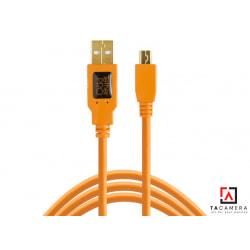 Dây TetherPro USB 2.0 To Mini-B 5-Pin - Kết Nối Máy Ảnh Và Máy Tính - Laptop - PC - Macbook - iMac - Màu Cam - Dài 4,6m