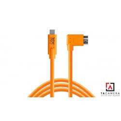 Dây TetherPro USB-C To 3.0 Micro-B Right Angle -  Màu Cam - Dài 4,6m