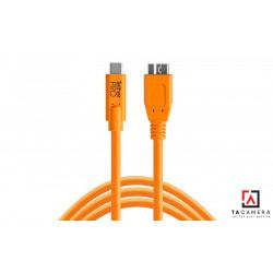 Dây TetherPro USB-C To 3.0 Micro-B - Màu Cam - Dài 4,6m
