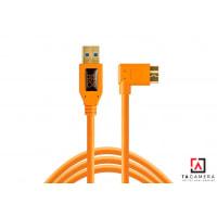 Dây TetherPro USB 3.0 To Micro-B Right Angle -  Màu Cam - Dài 4,6m