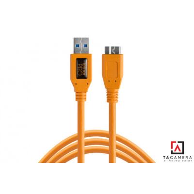 Dây TetherPro USB 3.0 To Micro-B - Kết Nối Máy Ảnh Và Máy Tính - Laptop - PC - Macbook - iMac - Màu Cam - Dài 4,6m