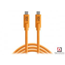 Dây TetherPro USB-C To USB-C - Kết Nối Máy Ảnh Và Máy Tính - Laptop - PC - Macbook - iMac - Màu Cam - Dài 4,6m