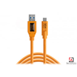 Dây TetherPro USB 3.0 To USB-C - Kết Nối Máy Ảnh Và Máy Tính - Laptop - PC - Macbook - iMac - Màu Cam - Dài 4,6m
