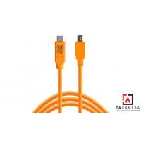 Dây TetherPro USB-C To 2.0 Micro-B 5-Pin -  Màu Cam - Dài 4,6m