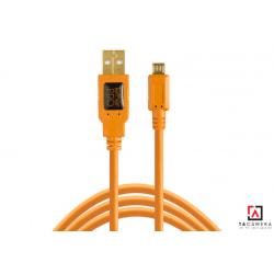 Dây TetherPro USB 2.0 A Male To Micro-B 5-Pin - Kết Nối Máy Ảnh Và Máy Tính - Laptop - PC - Macbook - iMac - Màu Cam - Dài 4,6m