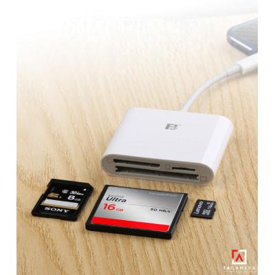Đầu Đọc Thẻ Nhớ - OTG FB17 Cổng Type-C Cho Điện Thoại - Ipad Pro - Hỗ Trợ Thẻ CF/SD/TF
