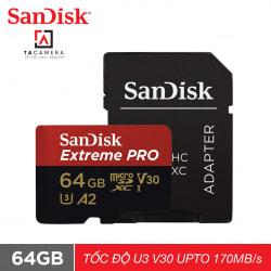 Thẻ Nhớ MicroSDXC TF SanDisk Extreme Pro V30 A2 64GB 170MB/s