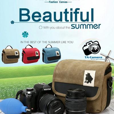 Túi máy ảnh Canvas thời trang