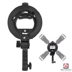 Smart Adapter S Shape - Ngàm Đa Năng Cho Đèn Speedlight