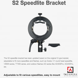 Smart Adapter Godox S2 Speedlite Bracket - Ngàm Dành Cho Flash V1