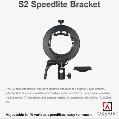 Smart Adapter Godox S2 Speedlite Bracket - Ngàm Dành Cho Flash V1