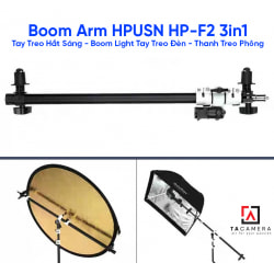 Boom Arm HPUSN HP-F2 3in1 - Tay Treo Hắt Sáng - Boom Light Tay Treo Đèn - Thanh Treo Phông
