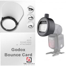 Combo Tản Sáng Godox AK-R12 Bounce Card + Đế Nam Châm S-R1