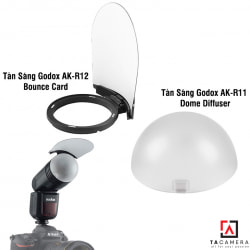 Combo Tản Sáng Godox AK-R12 Bounce Card + AK-R11 Dome Diffuser