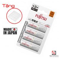 Bộ 4 Pin AA Fujitsu - Pin Trắng Nội Địa Nhật HR-3UTC (4B) 1900mAh - Tặng Hộp Pin