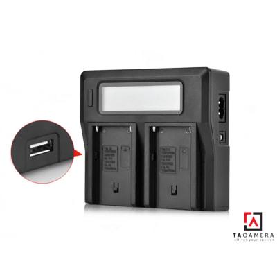Sạc Đôi LCD Kingma For Sony NP-F750/F550/F970
