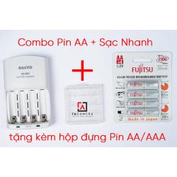Combo Pin AA Fujitsu + Sạc Nhanh
