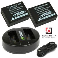 Bộ 2 Pin và Sạc Đôi NP-W126 cho Fujifilm X-E1, X-A2, X-M1, X-T1,...