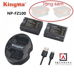 Bộ 2 pin sạc đôi Kingma FZ-100 cho Sony A7III - A7RIII - A9