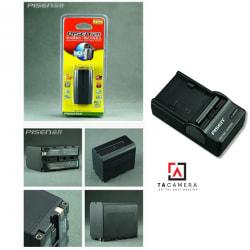 Pin - Sạc Pisen F970 cho máy quay, đèn LED