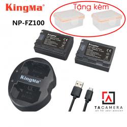 Pin - Sạc Đôi KingMa Cổng USB Cho Sony FZ100 2000mAh