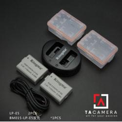 Pin - Sạc Đôi KingMa Cổng USB Cho Canon LP-E5 1150mAh