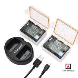 Pin - Sạc Đôi KingMa Cổng USB Cho Canon LP-E6 1960mAh