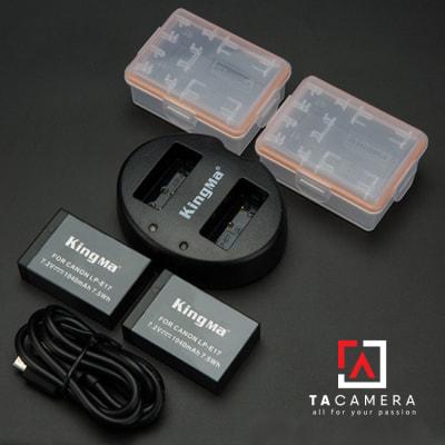 Pin - Sạc Đôi KingMa Cổng USB Cho Canon LP-E17 1040mAh