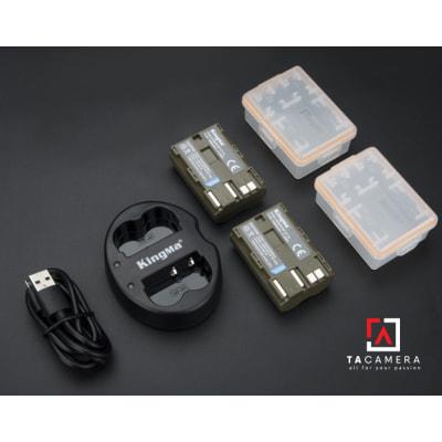 Pin - Sạc Đôi KingMa Cổng USB Cho Canon BP-511A 1600mAh
