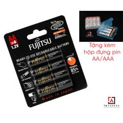 Bộ 4 Pin AA Fujitsu 2450mAh - Pin Đen