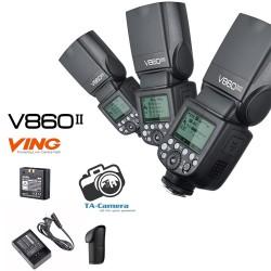 Đèn Flash Godox V860 II-TTL for Canon/Nikon/Sony Tặng Kèm Omi