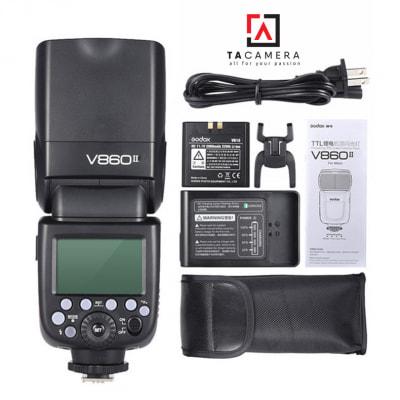 Đèn Flash Godox V860 II-TTL for Sony - Tặng Kèm Omi