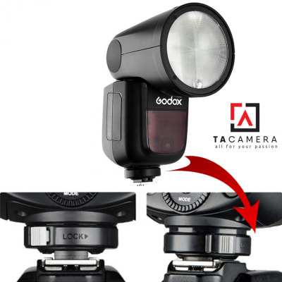 Chân Đế - Hotshoe Đèn Flash Godox V1 Canon/Nikon/Sony/Fuji