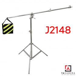Chân Đèn Inox Qihe J2148 2in1 - Kèm Tay Arm