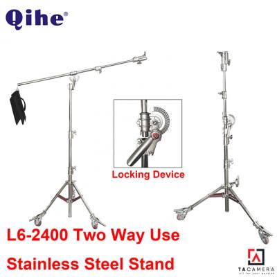 Chân Đèn Chuyên Nghiệp Qihe L6 2in1 Steel Boom